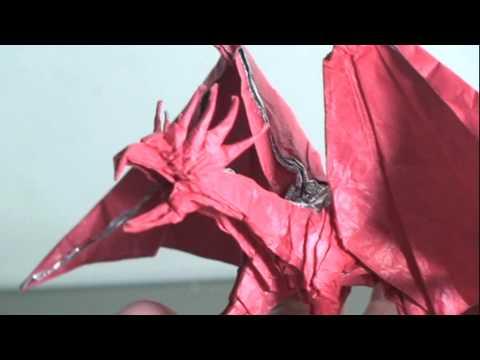 Making Of Origami Dragon Kamiya Satoshi Ancient Dragon Youtube