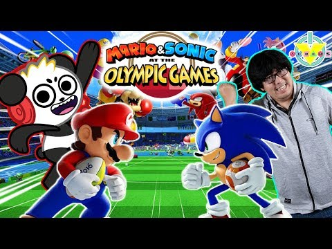 Ryan's Daddy Vs Combo Panda In Mario Vs Sonic Tokyo Olympic Games Let's Play