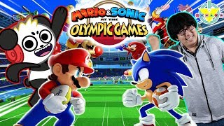 Ryan's Daddy Vs Combo Panda in Mario Vs Sonic Tokyo Olympic Games Let's Play