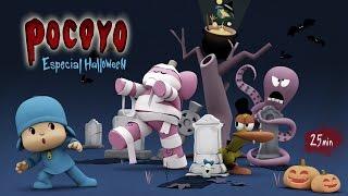 Repeat youtube video Pocoyo Halloween: Pelis de terror para niños ¡25 minutos de diversión!