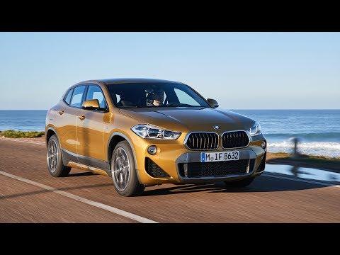 BMW X2 xDrive20d M Sport X in Lisbon   Galvanic Gold   Driving, Interior & Exterior Footage