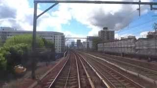 """Drivers Eye View """"style"""" train ride on the Driverless DLR line from Lewisham to Bank Station, London"""
