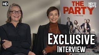 Cherry Jones & Kristen Scott Thomas | The Party Exclusive Interview streaming