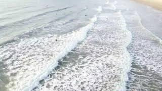 만리포해변과 서핑타는사람들..드론촬영
