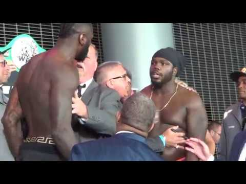 Deontay Wilder vs Bermane Stiverne HEATED WEIGH IN & TRASH TALKING FACE OFF