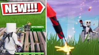 *NEW* Bottle Rockets Item Gameplay! (Fireworks!) Fortnite: Battle Royale