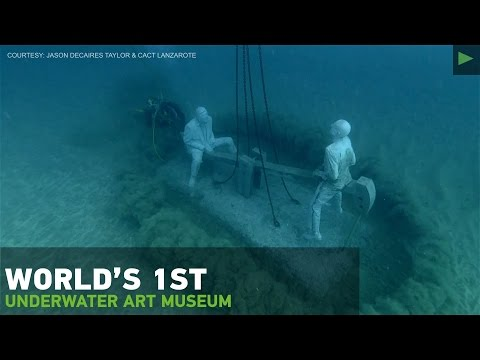 Mini-Atlantis? Eerie underwater museum revealed off Canary Islands