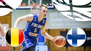 Belgium v Finland - Full Game - Class. 5-8 - FIBA U20 European Championship Division B 2018