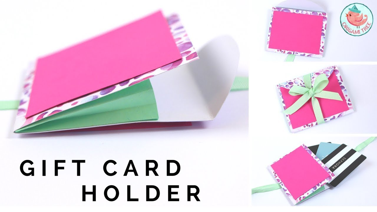 Expanding Gift Card Holder Diy Card Holder With Paper Accordion