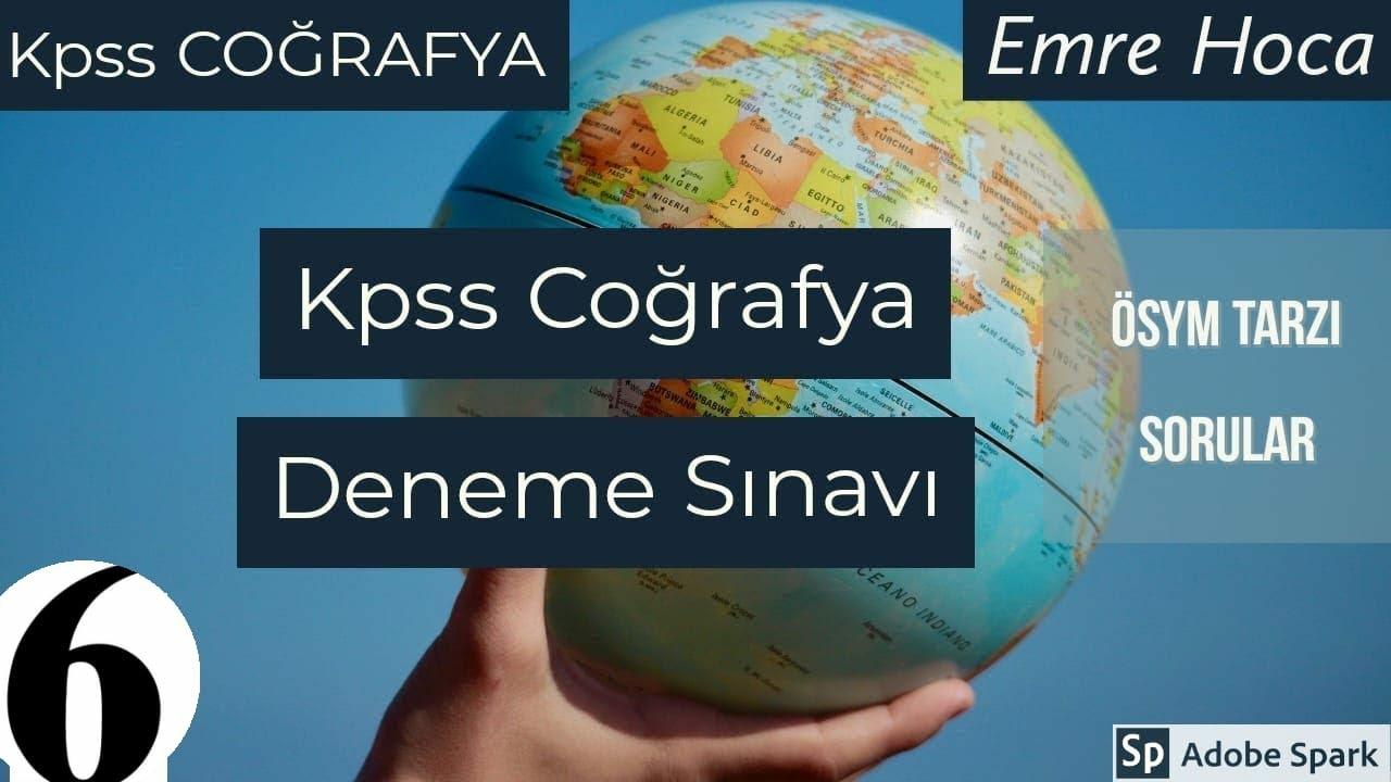6- KPSS COĞRAFYA DENEME SINAVI 2020 (Kodlama ve Haritalarla Destekli Çözüm)
