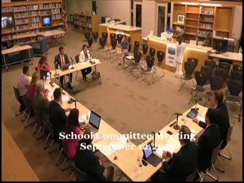 Peabody School Committee Meeting: September 12, 2017
