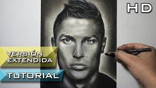 Cómo Dibujar a Cristiano Ronaldo a Lápiz Paso a Paso - Versión Extendida - Cr7 - Tutorial de Dibujo