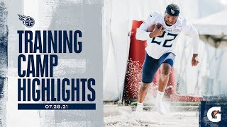 First Day of Titans Training Camp   Practice Highlights
