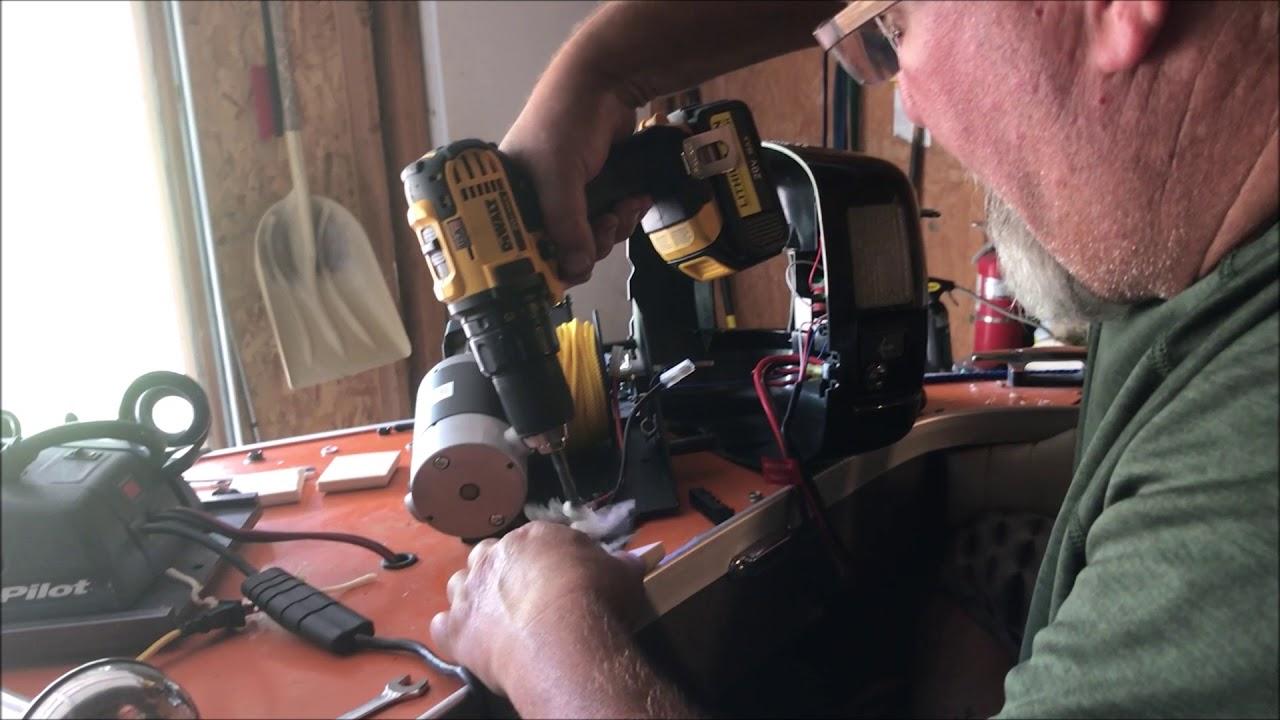 Minnkota Deck Hand Dh40 Install And Operation Minn Kota Youtube Maxwell Winch Wiring Diagram