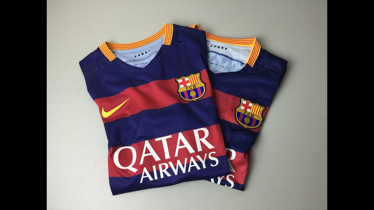 c2e92f69578 Comparison  Authentic vs High End Fake FC Barcelona Home Jersey 2015 2016   4K
