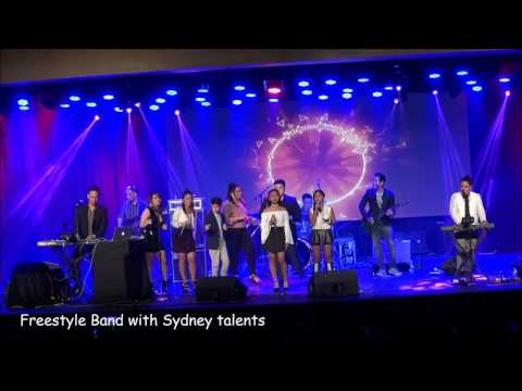 Freestyle Band production number with the Sydney Talents