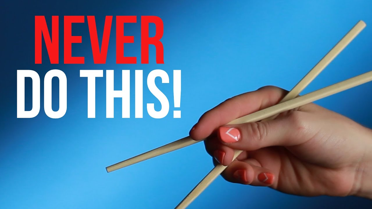 how to properly hold chopsticks youtube