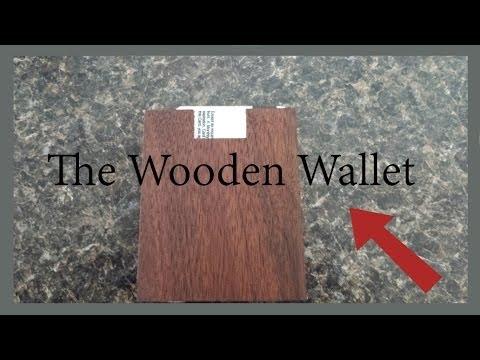 Wooden Wallet (hidden lock pick compartment)