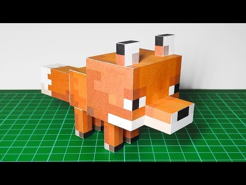 HOW TO MAKE BABY FOX MINECRAFT PAPERCRAFT | ALSA HONGGO [WITH FREE DOWNLOAD LINK]