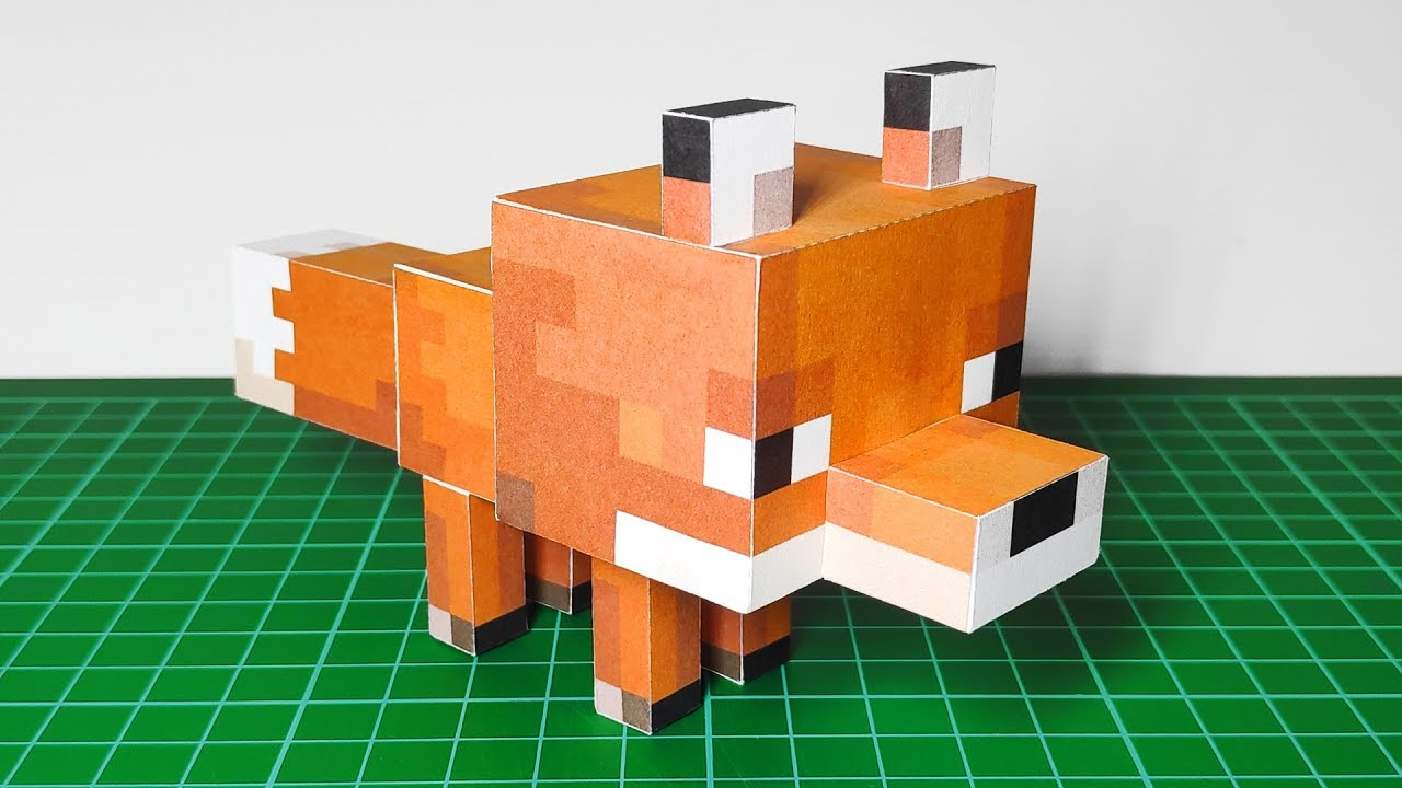 Minecraft Papercraft - Brown Rabbit Free Template Download | 720x1280