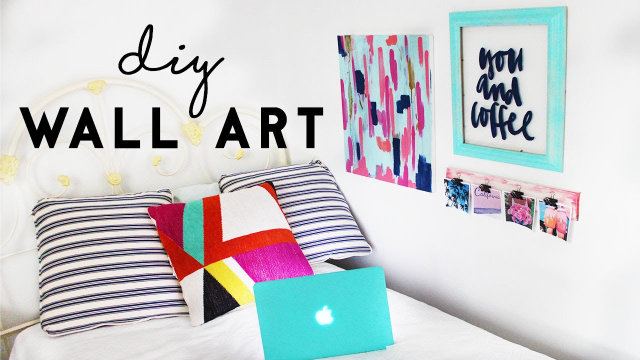 DIY Wall Art | Budget Room Decor For Dorm Rooms   YouTube