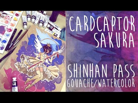 Cardcaptor sakura Shinhan PASS Hybrid Gouache Painting