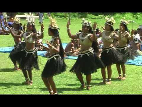 Fiji Dancing Banaban School on Rabi Island  Performing Traditional Dances.
