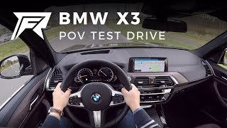 2018 BMW X3 xDrive20d - POV Test Drive (no talking, pure driving)