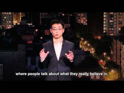 Comedian Joe Wong on Letterman 03/30/2012 with English subtitle