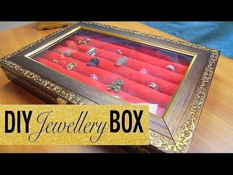 DIY Jewellery Box | Jewelry box | Ring holder | Jewellery organizer box : DIYIndian