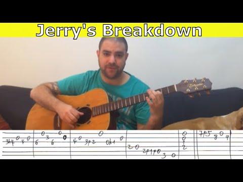 Tutorial: Jerry's Breakdown - Guitar Lesson w/ TAB