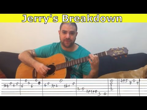 Tutorial: Jerry's Breakdown - Guitar Lesson w/ TAB