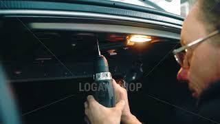 Renault Logan- установка вещевого крюка в багажник