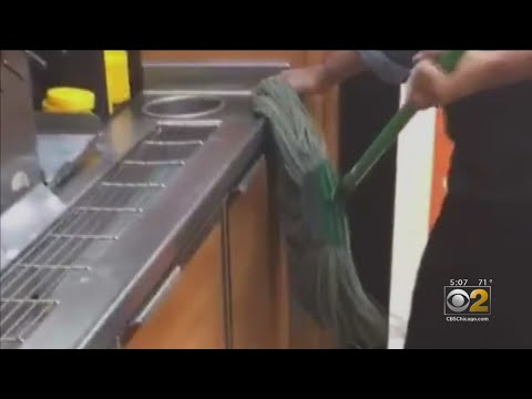 Luis Treviño - Empleado Uso Trapeador Para Limpiar Encimera En Restaurante Subway!