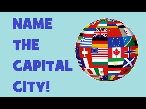 Hardest Quiz On Capital Cities Match With Country Testing - Country name and capital city