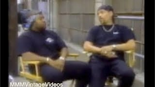 """Ice Cube & Ice T. on the Set of Their Movie """"Trespass"""" Interview"""