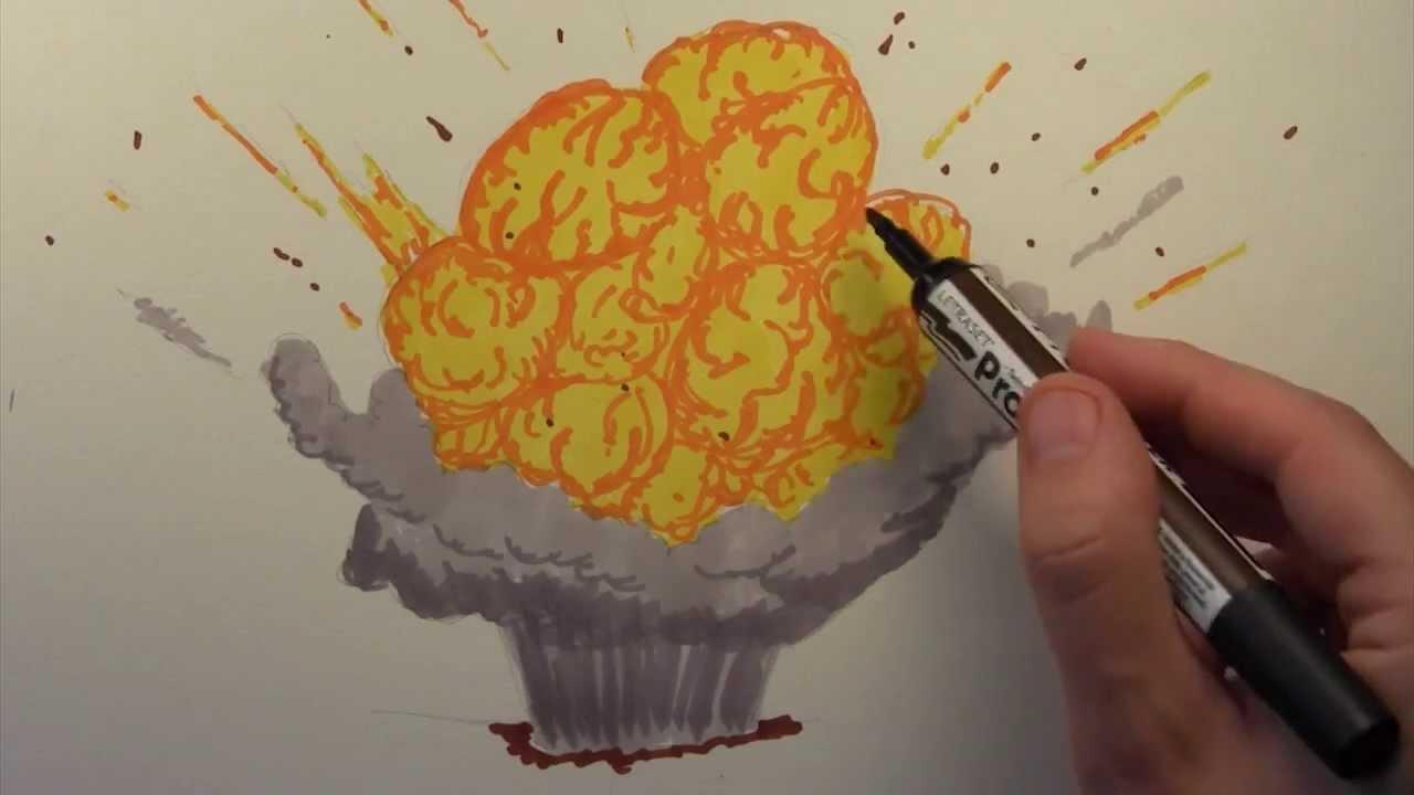 how to draw somone exploading