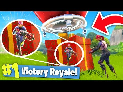 WINNING by HIDING in a SUPPLY DROP! (Fortnite Battle Royale)