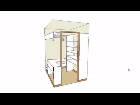 гардеробные комнаты для небольших помещений