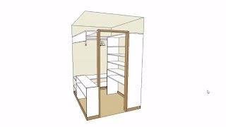 видео гардеробная в маленькой комнате