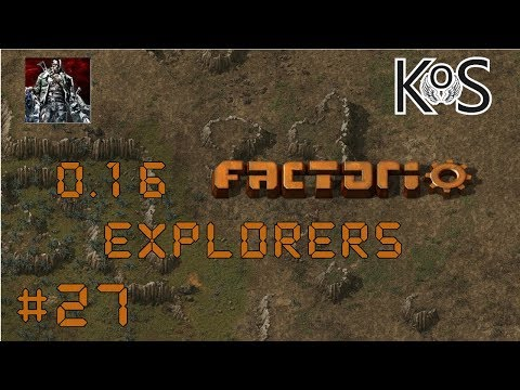 0.16 Factorio Explorers EP27: Rail Side Smelter! - Multiplayer Gameplay, Lets Play