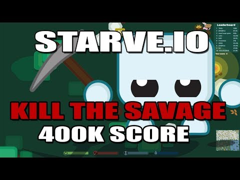 🔴LIVE STARVE.IO  - NA#2 - KILL THE SAVAGE(ME) - 400K SCORE