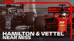 Hamilton And Vettel's Near Miss In Montreal | 2019 Canadian Grand Prix