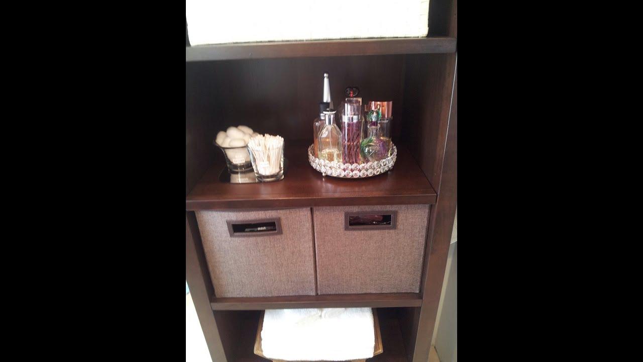 How I Organize Bathroom Essentials - YouTube
