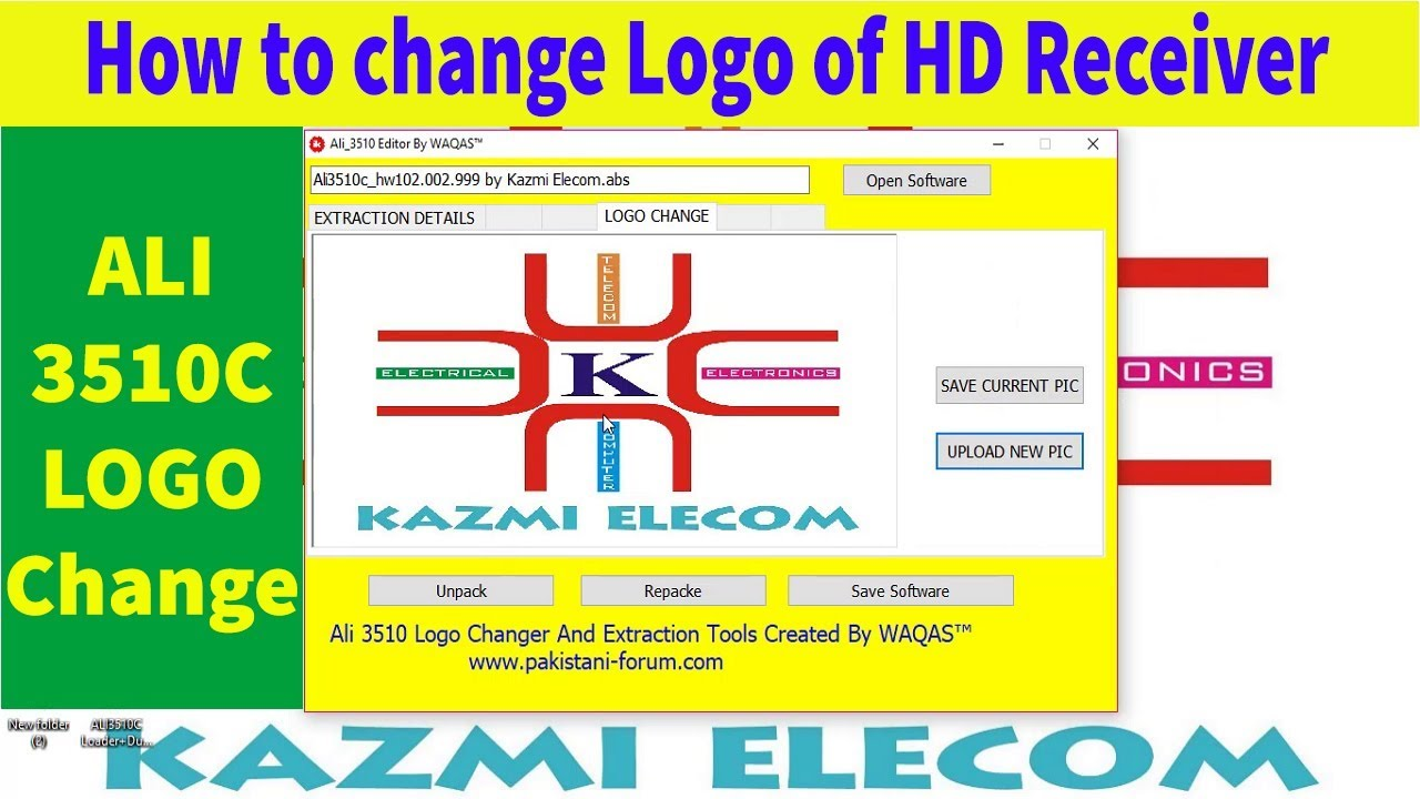 How to Change the LOGO of HD Receiver (ALI3510)  Complete Video Tutorial  Guide in Urdu/Hindi