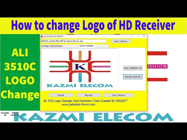 How to Change the LOGO of HD Receiver (ALI3510)  Complete
