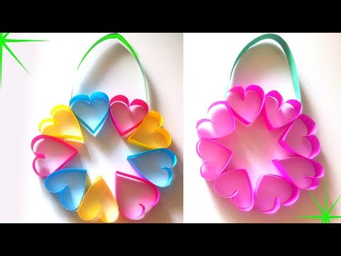 wall hanging valentine's day hearts wreath / valenetines day decoration / room decor ideas