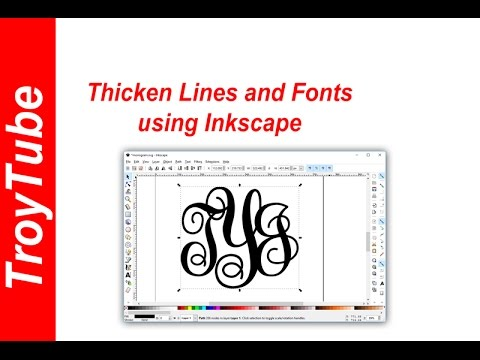 How to thicken lines and fonts using Inkscape
