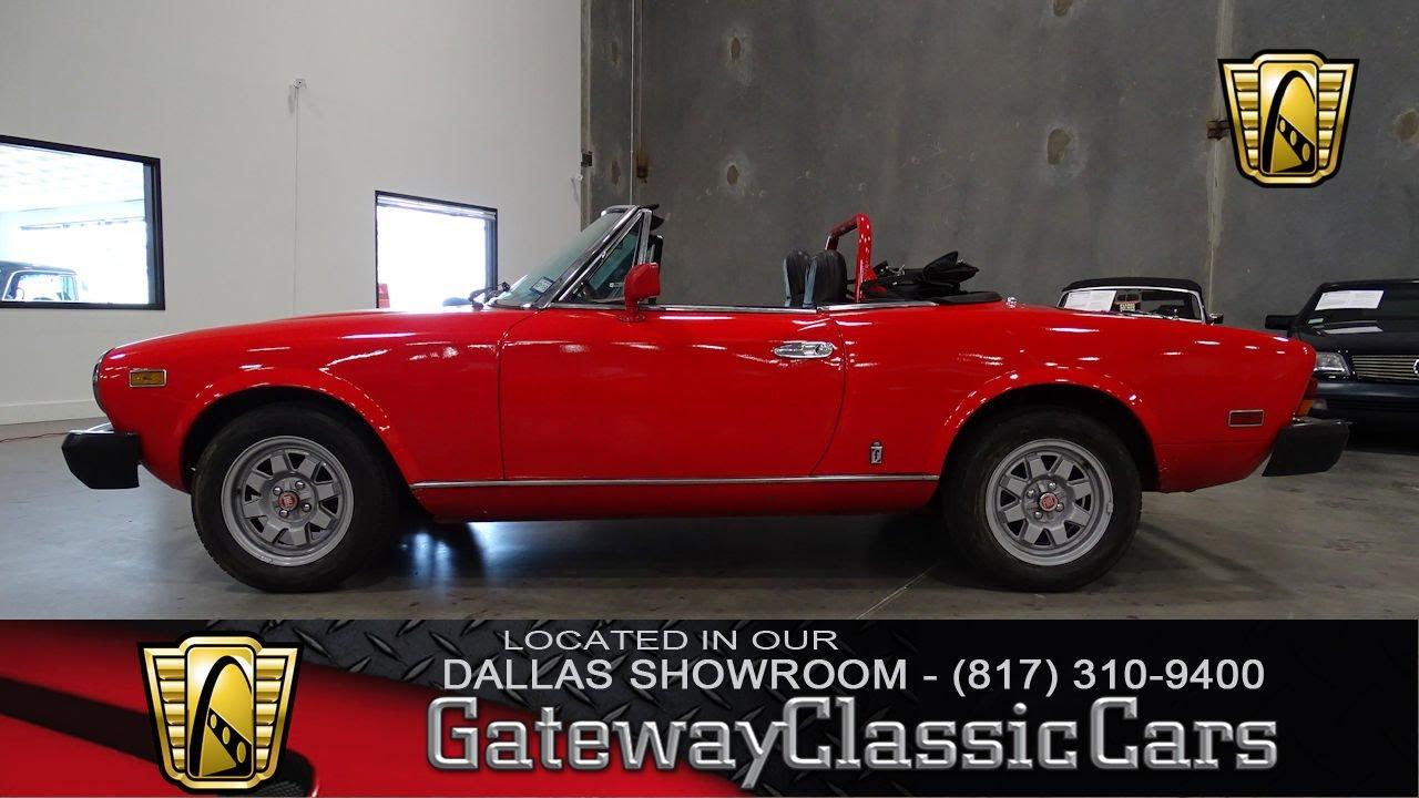 1982 Fiat 124 Spider 472 Dfw Gateway Classic Cars Of Dallas Youtube