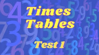 TIMES TABLES TEST (1)